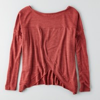 AEO PETAL BACK PULLOVER SWEATER
