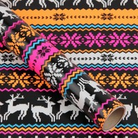 Neon stag wrapping paper - Paperchase