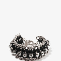 Woven Spiked Chain Bracelet