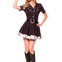 Adult Rhinestone Cowgirl Costume - Women's Western Halloween Costumes