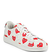 Comme des Garcons Play - Canvas Lace-Up Sneakers - Saks Fifth Avenue Mobile