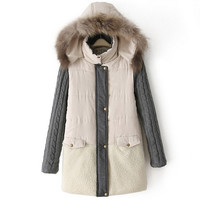 Winter Fur Coats Hoodies Parka for Women