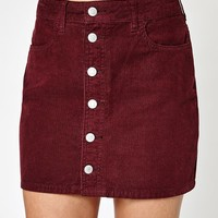 PacSun Corduroy Button Down Skirt at PacSun.com