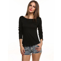 Lace Halter Bottom Spot T-Shirt