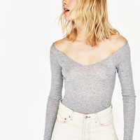 V - NECK T-SHIRT-NEW IN-WOMAN | ZARA United States