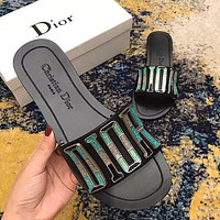 DIOR Trending Woman Stylish Flat Sandals Slipper Shoes