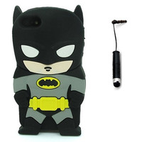 iphone 5C 3D Cartoon Cute Lovely Stylish Batman Silicone Case for Apple iphone 5C + Touch Stylus = 1928077124