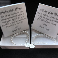 Mother of the Bride, Mother of the Groom Pearl Strand Bracelet