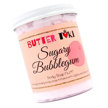 SUGARY BUBBLEGUM Whipped Body Soap Fluff - Clearance