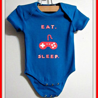 Eat.Play.Sleep. Onesuit/Body Suit. Children Clothes, Mario Bros Onesuit, Baby Boy clothes, baby creeper
