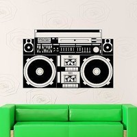 Wall Sticker Vinyl Decal Tape Recorder Vintage Music Night Club Unique Gift (ig1821)