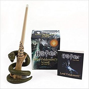 Harry Potter Lord Voldemort's Wand with Sticker Kit [With Book(s) and 8-Inch Light-Up Replica of Lord Voldemort's Wand] ( Miniature Editions )