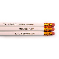 Parks & Recreation pack of 3 white stamped pencils.