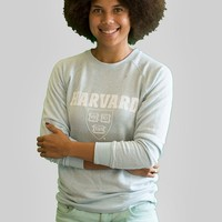 Women's French Terry Crew - The Harvard Shop