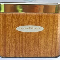 Vintage Coffee and Tea Metal Kitchen Canisters