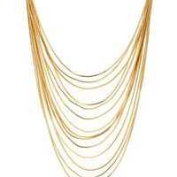Gold Layered Snake Chain Collar Necklace by Charlotte Russe