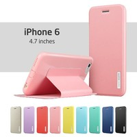 iPhone 6 Case, ESR® Yippee Color Series Protective Case Wallet [Multi-Stand View Angles ][Updated Version][No headphone port issue] Flip Cover Folio Case for 4.7 inches iPhone 6 (Sweet Pink)
