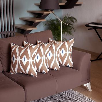 """Ikat Decorative Square 18"""" Throw Pillow Cover (Set of 4)"""