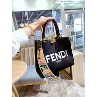 Fendi  Women Leather Shoulder Bags Satchel Tote Bag Handbag Shopping Leather Tote Crossbody