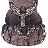 Overdyed Denim Backpack - Urban Education - Collections - Topshop