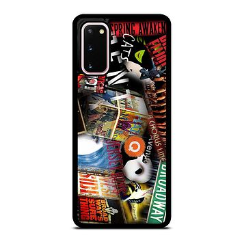 BROADWAY MUSICAL COLLAGE Samsung Galaxy S20 Case Cover