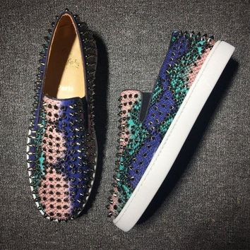 DCCK2 Cl Christian Louboutin Roller Boat Style #2089 Sneakers Fashion Shoes