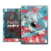 The Butterfly Vintage Blue and Coral Skin for the iPad Air