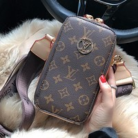 LV Louis Vuitton Fashion Printed Letter Mini Shoulder Bag Crossbody Bag