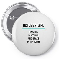 October Girl Pin-back button