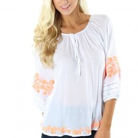 Day Dreamer Embroidered Top