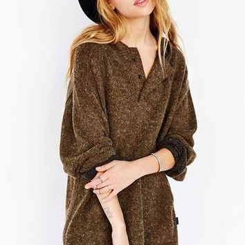 UNIF Hooded Poncho Sweater- Green