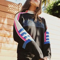 adidas Mock-Neck Moto Sweatshirt