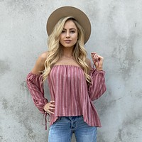 Desert Rose Off Shoulder Print Blouse