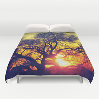 Through the trees Duvet Cover by DuckyB (Brandi)