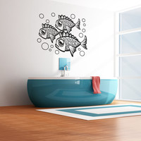 Vinyl Wall Decal Sticker Sad Fish #OS_AA1095
