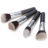4pcs Pure Goat Cosmetics Makeup Blush Loose Powder Brush Set