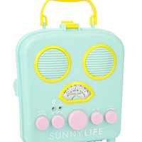 Turquoise Blue Portable Radio MP3 Speaker System Seafoam Beach Boombox by Sunnylife Australia