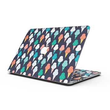The All Over Teal and Green Ice Cream Cones - MacBook Pro with Retina Display Full-Coverage Skin Kit
