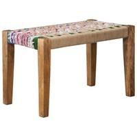 Threshold™ Woven Jute Bench - Multicolored 28x15x17h""