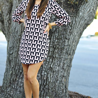 Baby You're A-Maze-Ing Dress: Black/Pink | Hope's