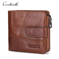 CONTACT'S Brand Wallet Short Purses Coin Bag Organizer Brands Design Men Wallet With Card Holder Money Bags With Small Wallets