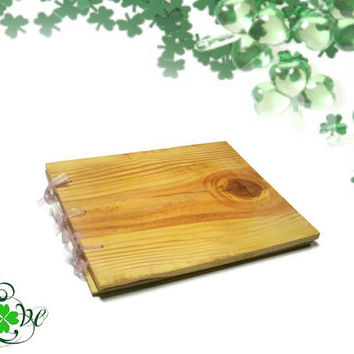"Custom Wedding Guest Book - Wooden Rustic Book 10""x12"" You Design"