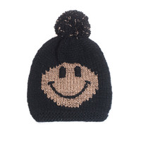 Tendersmile  Smiley Gold Black Schurwoll-Strickmütze - What's new