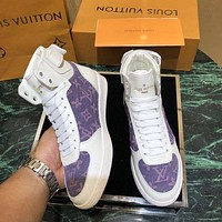 Louis Vuitton LV Trendy printed flat and casual high-top shoes