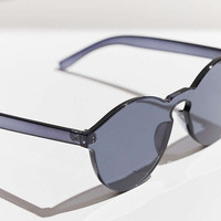 Translucent Monocut Round Sunglasses | Urban Outfitters