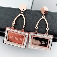 Dior New fashion letter long earring women accessories