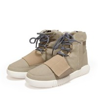 Boots Men Shoes kanye hip hop Shoes Lace Up Ankle Boots