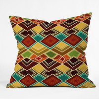 Sharon Turner Raffia Outdoor Throw Pillow