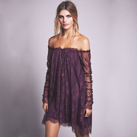 Spring Boho Dress Women Bat Long Sleeve Off The Shoulder Mini Dress Femme Backless Sexy Dresses Lace Party Dress Robes Female