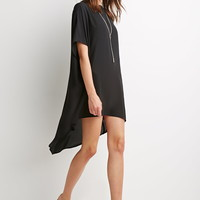 Oversized Dropped-Hem Top